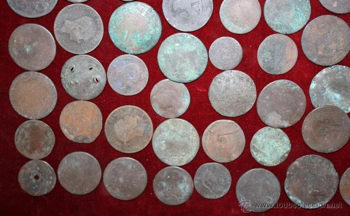 Monedas de España: LOTE DE 170 MONEDAS CHAVOS, VARIEDAD, MIREN FOTOGRAFÍAS.. VARIAS ÉPOCAS... - Foto 6 - 46065984