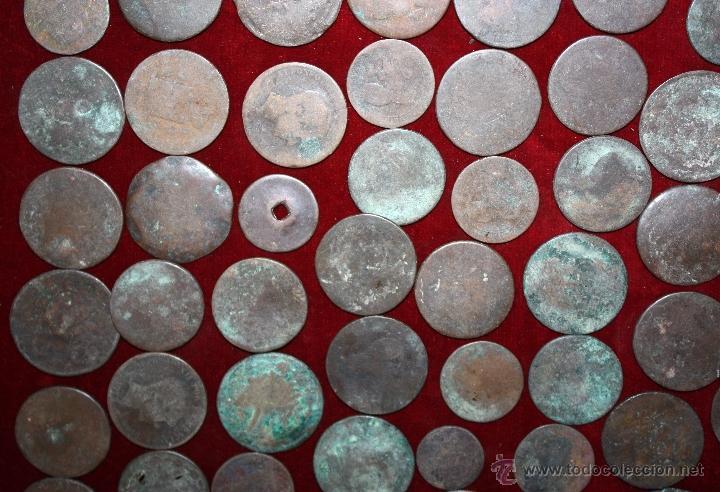 Monedas de España: LOTE DE 170 MONEDAS CHAVOS, VARIEDAD, MIREN FOTOGRAFÍAS.. VARIAS ÉPOCAS... - Foto 7 - 46065984