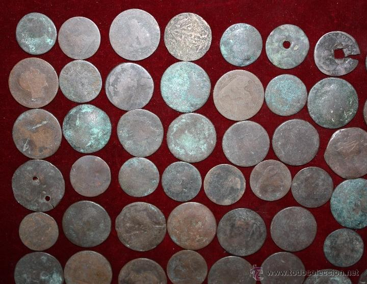 Monedas de España: LOTE DE 170 MONEDAS CHAVOS, VARIEDAD, MIREN FOTOGRAFÍAS.. VARIAS ÉPOCAS... - Foto 8 - 46065984