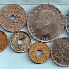 Monedas de España: LOTE DE OCHO MONEDAS ESPAÑA. Lote 46494774