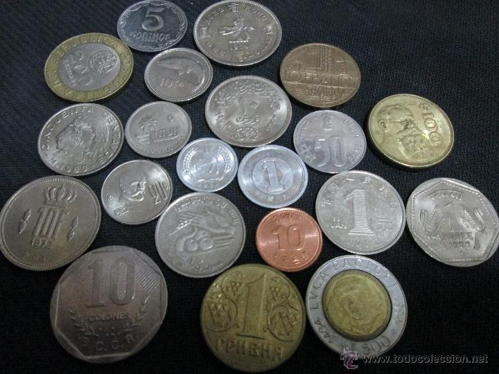 BUEN LOTE DE 21 MONEDAS EXTRANGERAS (Numismática - España Modernas y Contemporáneas - Colecciones y Lotes de conjunto)