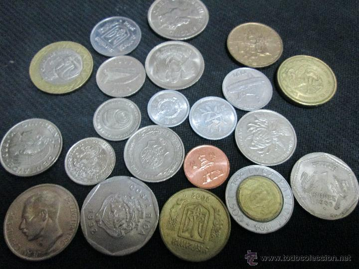 Monedas de España: Buen lote de 21 monedas extrangeras - Foto 2 - 46991940