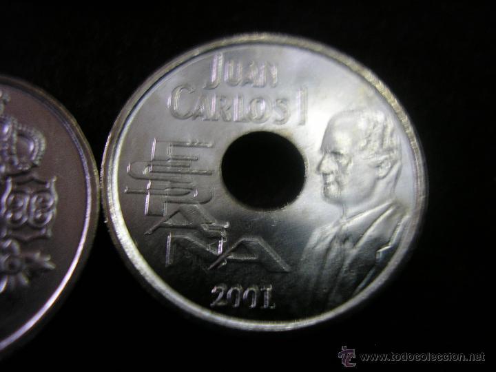 LOTE 10 MONEDAS 25 PTAS AÑO 2001 JUAN CARLOS I SIN CIRCULAR (Numismática - España Modernas y Contemporáneas - Colecciones y Lotes de conjunto)