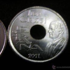 Monedas de España: LOTE 10 MONEDAS 25 PTAS AÑO 2001 JUAN CARLOS I SIN CIRCULAR. Lote 47891434