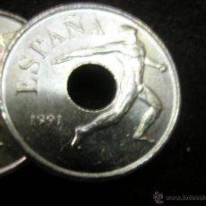 Monedas de España: LOTE DE 10 MONEDAS DE 25 PTAS. DEL AÑO 1991 LANZADOR DE DISCO. Lote 47891532