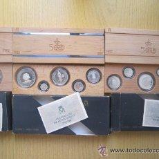Monedas de España: V CENTENARIO DE AMERICA FNMT EN PLATA SERIE 11 MONEDAS 1989 ESTUPENDO PARA REGALO. Lote 34671109