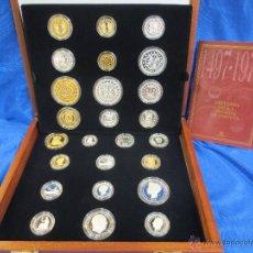 Monedas de España: COLECCIÓN LA HISTORIA DE LA PESETA EN PLATA DE 1497 A 1975. Lote 49648373