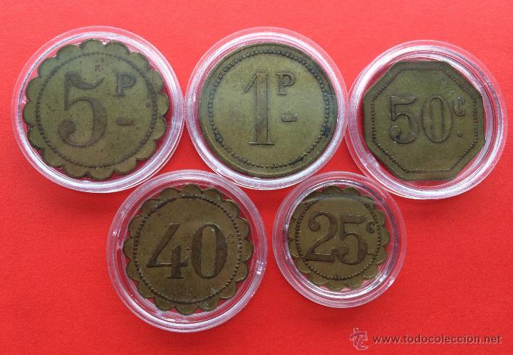 Monedas de España: Rarisima serie completa de fichas del antiguo SALON IMPERIO (Coruña) 1913 - Foto 2 - 51159093