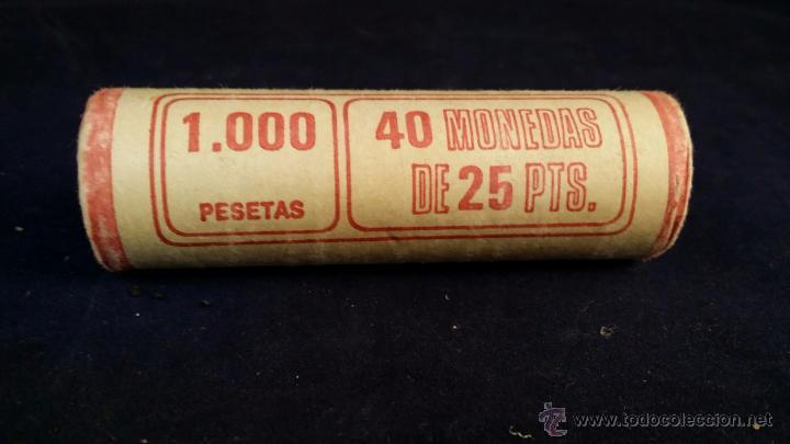 CARTUCHO DE MONEDAS DE 25 PESETAS - 40 MONEDAS (Numismática - España Modernas y Contemporáneas - Colecciones y Lotes de conjunto)
