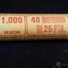 Monedas de España: CARTUCHO DE MONEDAS DE 25 PESETAS - 40 MONEDAS. Lote 52973564