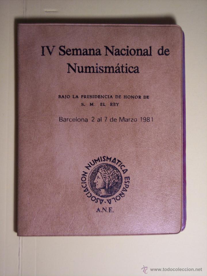 CARTERITA (IV SEMANA NACIONAL DE NUMISMATICA (1ª COLECC. CONMEM. DE S.M. J. CARLOS I (ESPAÑA'82 *80) (Numismática - España Modernas y Contemporáneas - Colecciones y Lotes de conjunto)