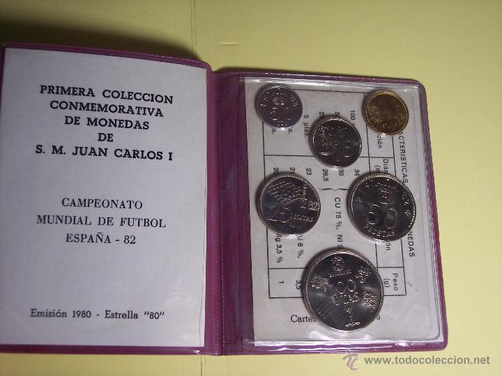Monedas de España: CARTERITA (IV SEMANA NACIONAL DE NUMISMATICA (1ª COLECC. CONMEM. DE S.M. J. CARLOS I (ESPAÑA'82 *80) - Foto 2 - 53815788
