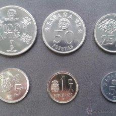 Monedas de España: ESPAÑA MUNDIAL 82 1ª SERIE NUMISMATICA CARTERA CON 6 MONEDAS AÑO 80 ESTRELLA 80. Lote 130482347