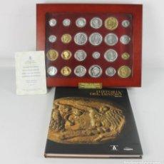 Monedas de España: HISTORIA DE LA PESETA. 24 MONEDAS EN ORO Y PLATA MAS LIBRO EXPLICATIVO. 1999.. Lote 45400570