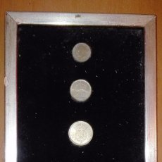 Monedas de España: LOTE CONMEMORATIVO ENMARCADO DE MONEDAS DE 100, 50, 25 Y 5 PESETAS . Lote 65014975