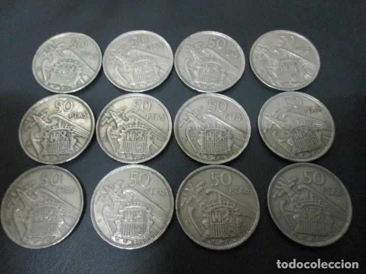 12 MONEDAS DE 50 PESETAS 1957 ESTADO ESPAÑOL (Numismática - España Modernas y Contemporáneas - Colecciones y Lotes de conjunto)