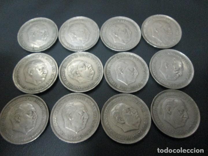Monedas de España: 12 monedas de 50 pesetas 1957 estado español - Foto 2 - 67861025