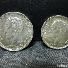 Monedas de España: 25 Y 50 CENTIMOS 1960 VENEZUELA PLATA LEY 835 EBC. Lote 70529241