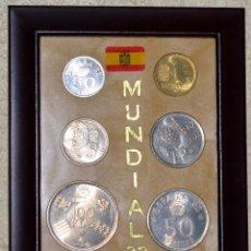 Coins of Spain - LOTE DE MONEDAS CONMEMORATIVO MUNDIAL 82 , SEIS MONEDAS, ENMARCADAS, NUEVAS (#2) - 72278243