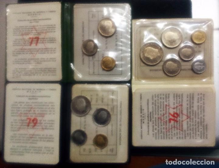 PRUEBAS NUMISMÁTICAS DE F.N.M.T. DE JUAN CARLOS I - JUEGOS OFICIALES- 3 CARTERAS DIFERENTES (Numismatik - Moderne und zeitgenössische spanische Münzen - Sammlungen)