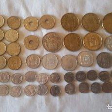 Monedas de España: LOTE 56 MONEDAS DE FRANCO Y JUAN CARLOS I DE 1,5,10,25,100,500 PESETAS/PTS. Lote 82749944
