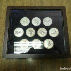 Monedas de España: JUEGO DE 10 ARRAS ISLAS CANARIAS CON ESTUCHE. Lote 96749264