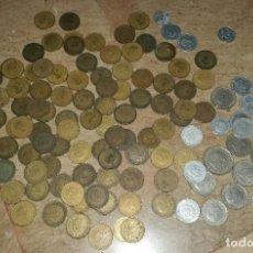 Monedas de España: LOTAZO UNAS 120 MONEDAS DE FRANCO AÑOS COMPRENDIDOS ENTRE 1947 A 1966. Lote 86658716