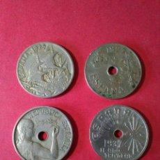 Monedas de España: LOTE DE LAS 4 MONEDAS DE 25 CÉNTIMOS.. Lote 91547794