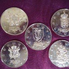 Monedas de España: COLECCIÓN DE 5 MONEDAS MIEMBROS CEE. LOTE 4. Lote 91564420