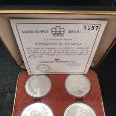 Monedas de España: ESTUCHE MONEDAS CONMEMORATIRAS MONTREAL 1976 PLATA. Lote 91998250