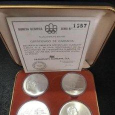 Monedas de España: ESTUCHE MONEDAS CONMEMORATIRAS MONTREAL 1976 PLATA. Lote 91998470