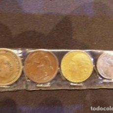 Monedas de España: LOTE DE 4 MONEDAS ESPAÑOLAS DE 2 , 1 , 50 CTS Y 5 CTS. Lote 93568820