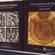 Monedas de España: LAS MONEDAS DE ESPAÑA DE LOS REYES CATÓLICOS A JUAN CARLOS I EN DOS ALBUMES COMPLETOS. Lote 93621470