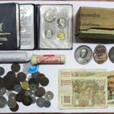 Monedas de España: CONJUNTO CON MONEDAS ANTIGUAS DE ESPAÑA, CARTERAS F.N.M.T., CARTUCHOS, MEDALLAS, ETC. LOTE 0632. Lote 98133163