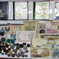 Monedas de España: CONJUNTO CON MONEDAS ANTIGUAS, CARTERAS F.N.M.T., CARTUCHOS, BILLETES, FICHAS, ETC. LOTE 0637. Lote 98346211