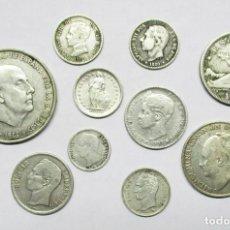 Monedas de España: CONJUNTO DE DIEZ MONEDAS ESPAÑOLAS Y EXTRANJERAS ANTIGUAS EN PLATA. LOTE 0641. Lote 98740711