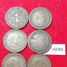 Monedas de España: LOTE PESETAS ESPAÑA, AÑOS 44 , 53 , 54 , 56 , 63 , 67. Lote 101094751