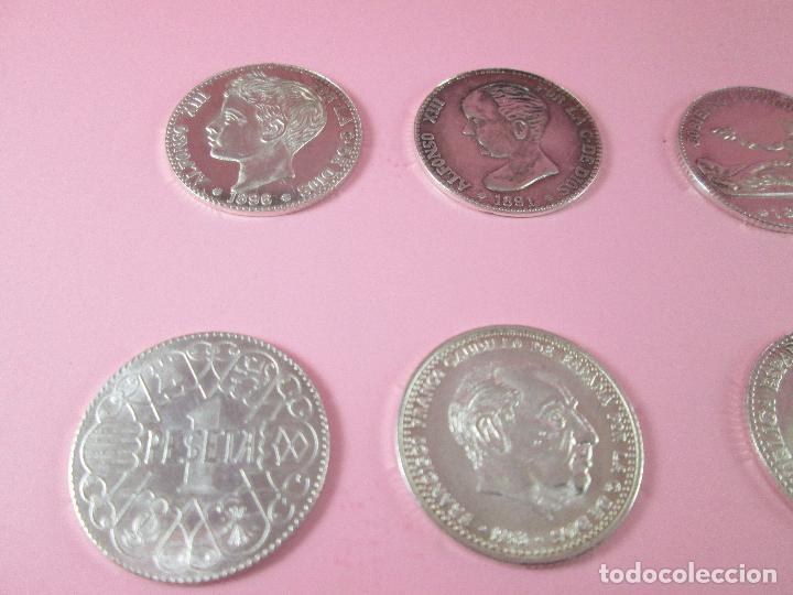 Monedas de España: lote 15 monedas-1 peseta-plata 925-buen estado-ver fotos - Foto 6 - 103800363