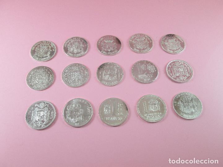 Monedas de España: lote 15 monedas-1 peseta-plata 925-buen estado-ver fotos - Foto 11 - 103800363