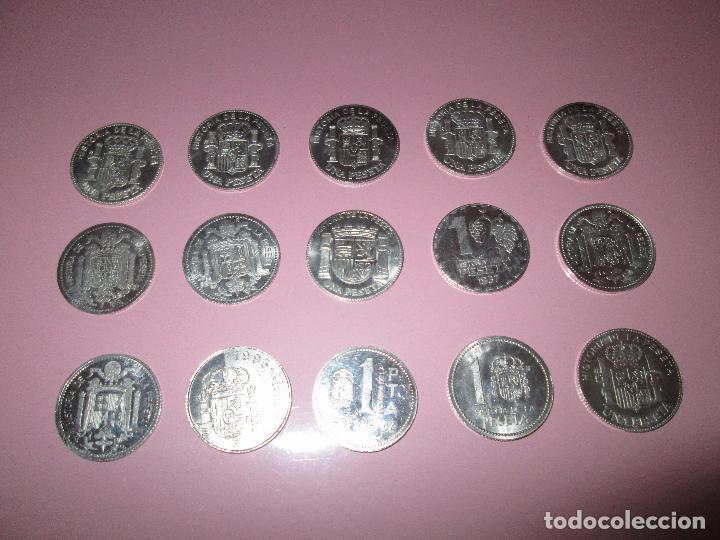 Monedas de España: lote 15 monedas-1 peseta-plata 925-buen estado-ver fotos - Foto 13 - 103800363
