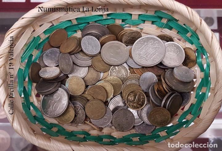 ESPAÑA LOTE 5 KILOS DE MONEDAS VARIADAS REPÚBLICA - FRANCO - JUAN CARLOS I (Numismática - España Modernas y Contemporáneas - Colecciones y Lotes de conjunto)
