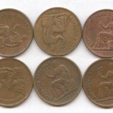 Monedas de España: LIQUIDACIÓN LOTE DE 6 MONEDAS DE 50 CÉNTIMOS AÑO 1937 DE LA REPÚBLICA ESPAÑOLA. Lote 35355985