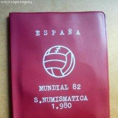 Monedas de España: CARTERA MONEDAS MUNDIAL 82 FÚTBOL ESPAÑA JUAN CARLOS I AÑO 1980. Lote 132075377