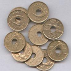 Monedas de España: LIQUIDACIÓN LOTE DE 1OO MONEDAS DE 25 PESETAS JUAN CARLOS I MODULO PEQUEÑO (TALADRO). Lote 108702095
