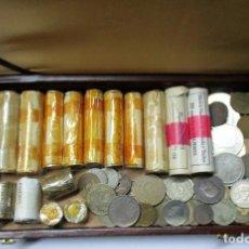 Monedas de España: ESTUCHE CON CARTUCHOS DE MONEDAS DE F.N.M.T. Y PARTICULARES MONEDAS, MEDALLAS, FICHAS ETC. LOTE 0808. Lote 108860463