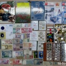Monedas de España: CAJA CON MONEDAS, BILLETES, CARTERAS DE LA F.N.M.T., LIBROS, CATALOGO, SUBASTA, ETC..... LOTE 0041. Lote 109276655