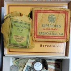Monedas de España: CAJA CON BILLETES ESPAÑOLES, MONEDAS DE PLATA ESPAÑOLAS Y EXTRANJERAS, TABACO, RELOJ, ETC. LOTE-0822. Lote 109374135