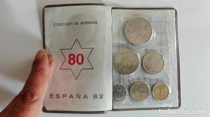 (REF2) ESPAÑA PESETA MUNDIAL 82 SERIE NUMISMATICA 80 JUAN CARLOS I (Numismática - España Modernas y Contemporáneas - Colecciones y Lotes de conjunto)