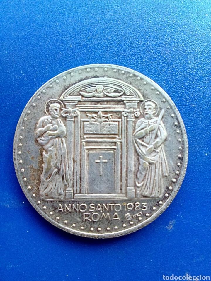 Monedas de España: Moneda medalla de Juan Pablo II. - Foto 2 - 111691851