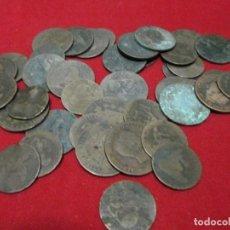 Monedas de España: 40 ANTIGUAS MONEDAS DE COBRE 300GRAMOS. Lote 113099407